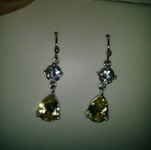 Jewelry - 3 ct canary Lab created diamond earrings